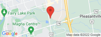 Google Map of 16885+Leslie+St%2CNewmarket%2COntario+L3Y+9A1