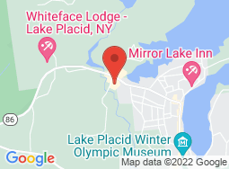 Location of LAKE PLACID CENTER for the ARTS on a map