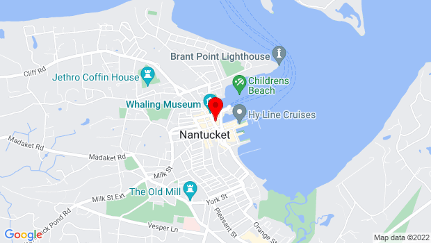 Google Map of 17 S Water St, Nantucket, MA 02554
