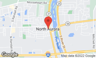 Map of 17 North Adams Street NORTH AURORA, IL 60542