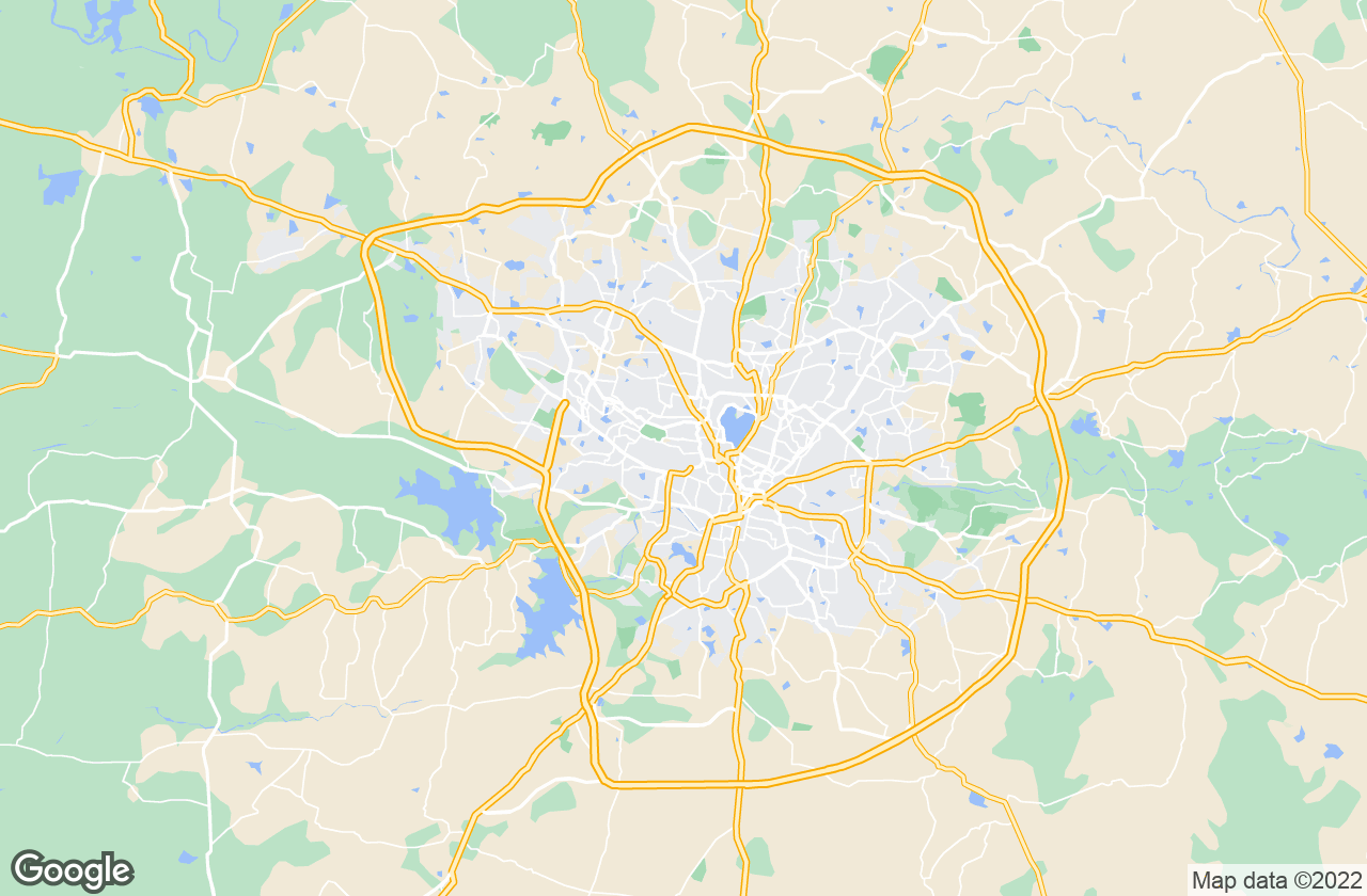 Google Map of Hyderabad