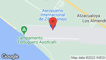 Map of Desviación Del Aeropuerto - S/N Ambulantaje Planta Baja Local 10 Edif Terminal in Zihuatanejo