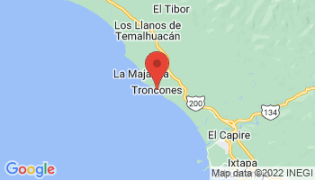 Map of Troncones