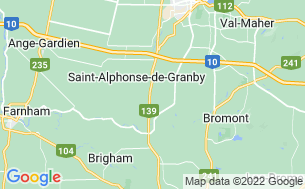 Map of Camping Saint-Alphonse