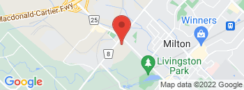 Google Map of 170+Steeles+Avenue+East%2CMilton%2COntario+L9T+2Y5