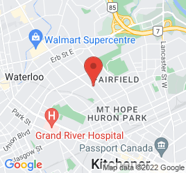 Google Map of 170+Weber+Street%2CKitchener%2COntario+N2J+2B2
