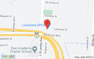 Map of Louisiana SPCA - New Orleans Campus