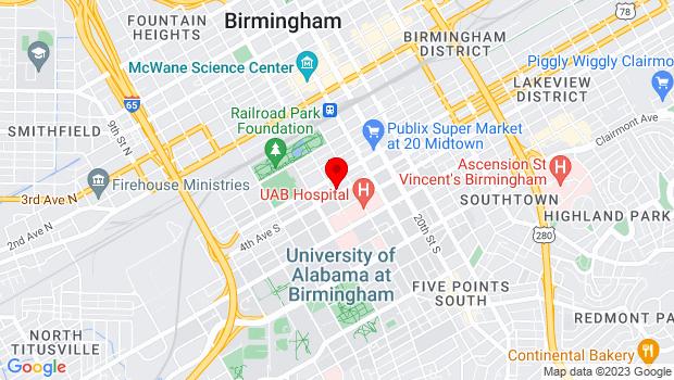 Google Map of 1700 4th Avenue South, Birmingham, AL 35233