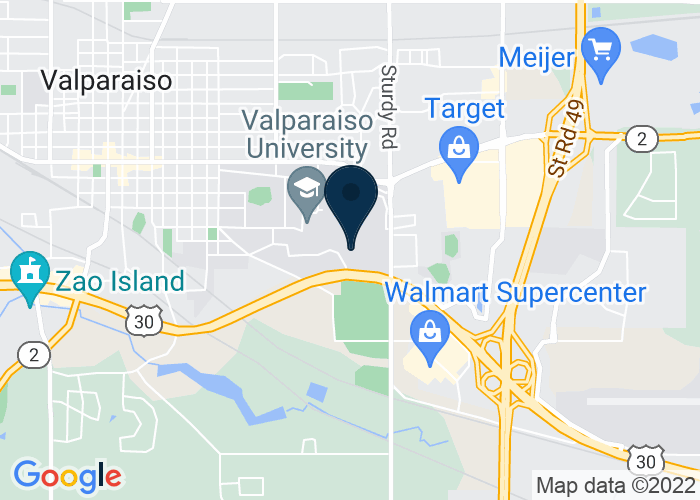 Map of 1700 Chapel Dr, Valparaiso, IN 46383, United States