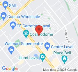 Google Map of 1700+Le+Corbusier%2CLaval%2CQuebec+H7S+2K1