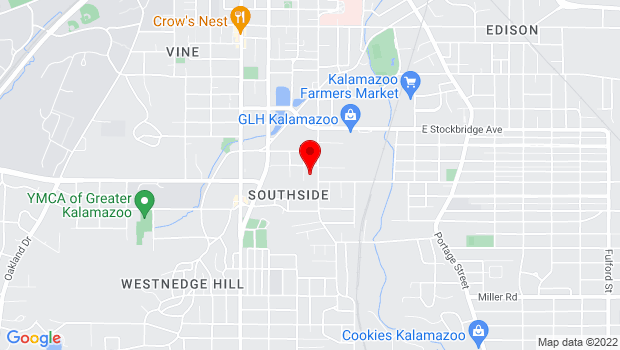 Google Map of 1700 S Burdick Street, Kalamazoo, MI 49001