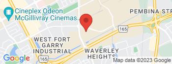 Google Map of 1700B+Waverley+Street%2CWinnipeg%2CManitoba+R3T+5V7