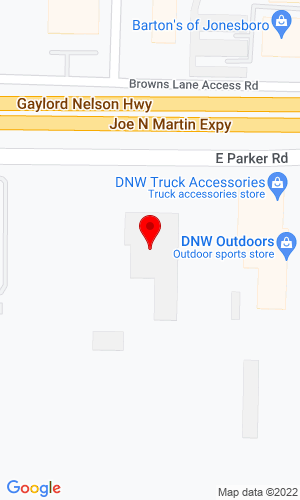 Google Map of Heartland Equipment 1701 East Parker Road, Jonesboro, AR, 72402