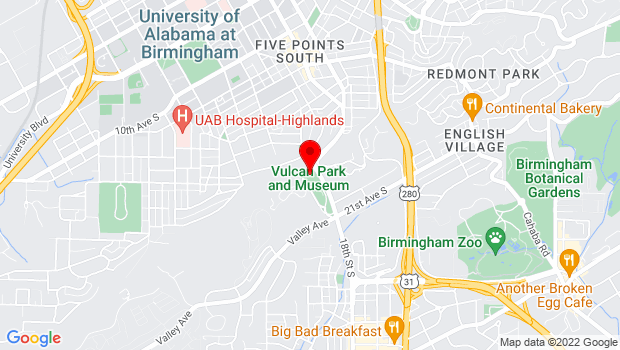 Google Map of 1701 Valley View Drive  , Birmingham, AL 35209
