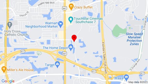 Google Map of 1702 Deerfield Boulevard, Orlando, FL 32837