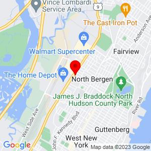 Google Map of 1703 80th St North Bergen, NJ 07047