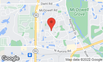 Map of 1704 Prince Court NAPERVILLE, IL 60563