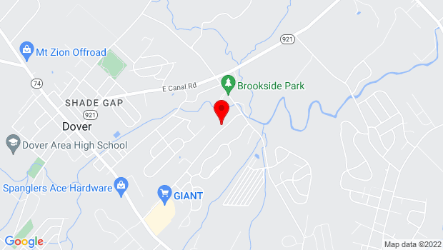 Google Map of 1705 Palomino Road, Dover, PA 17315