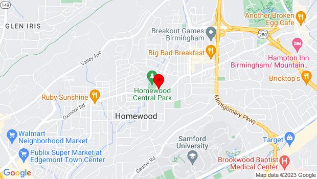 Google Map of 1706 Oxmoor Rd, AL
