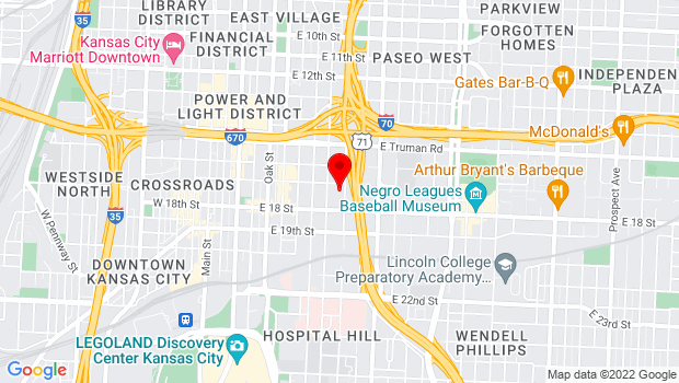 Google Map of 1708 Campbell, Kansas City, MO 64108