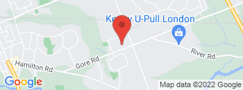 Google Map of 1708+Gore+Rd%2CLondon%2COntario+N5W+5L5