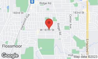 Map of 1710 187th Street HOMEWOOD, IL 60430