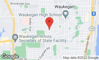 Map of 1713 Lloyd Avenue WAUKEGAN, IL 60085