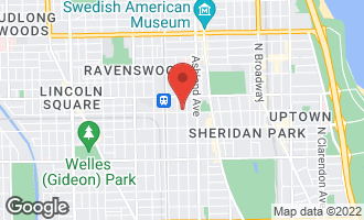 Map of 1714 West Leland Avenue 3F CHICAGO, IL 60640