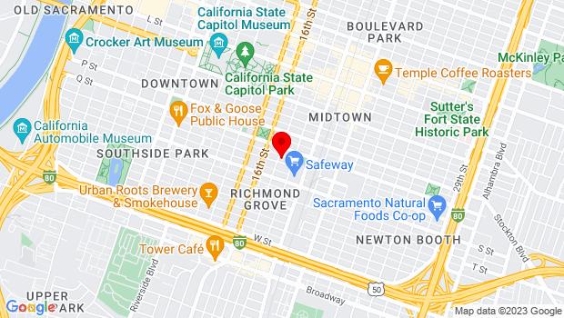 Google Map of 1715 R St., Sacramento, CA 95811