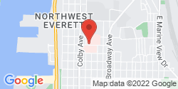 Google Map of 1717 13th Street+Everett+WA+98201