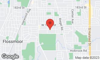Map of 1717 Terrace Road HOMEWOOD, IL 60430