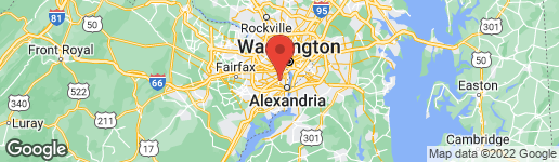 Map of 1719 OAKCREST DRIVE ALEXANDRIA, VA 22302