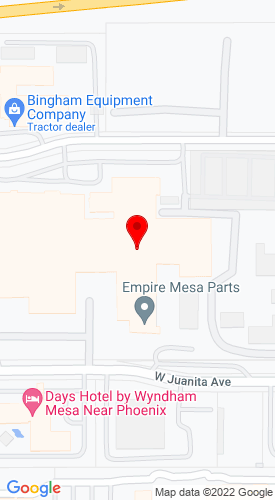 Google Map of Empire Southwest LLC 1725 S Country Club Drive, Mesa, AZ, 85210