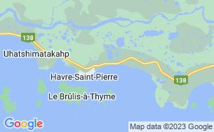 Map of Camping Municipal Havre-Saint-Pierre