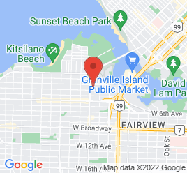 Google Map of 1730+Burrard+St.%2CVancouver%2CBritish+Columbia+V6J+3G7