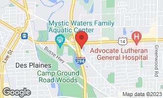 Map of 1731 Pavilion Way #301 Park Ridge, IL 60068