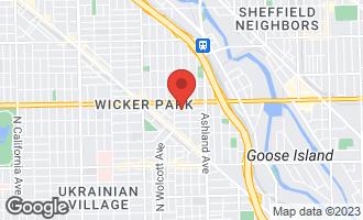 Map of 1733 West Pierce Avenue CHICAGO, IL 60622