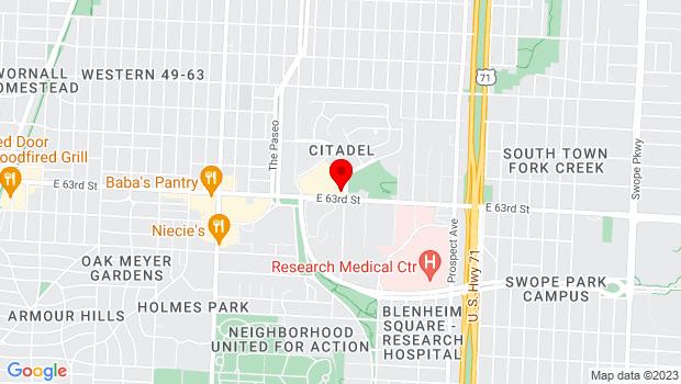 Google Map of 1734 E. 63rd St. Ste. 314, Kansas City, MO 64110