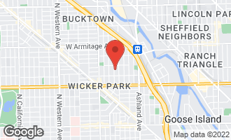 Map of 1735 North Honore Street CHICAGO, IL 60622