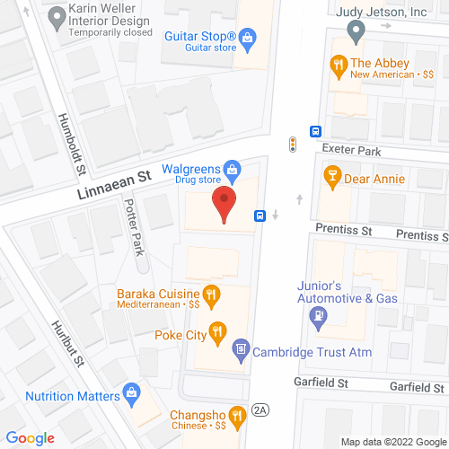 Map of the area around Simon's Coffee Shop