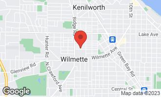 Map of 1736 Highland Avenue WILMETTE, IL 60091