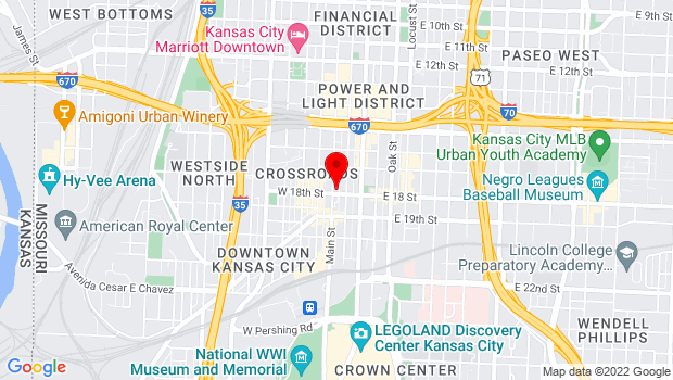 Google Map of 1737 Main Street, Kansas City, MO 64108