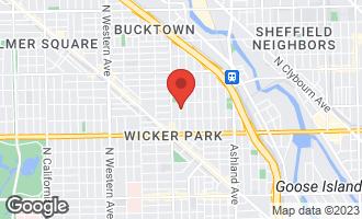 Map of 1737 North Winchester Avenue CHICAGO, IL 60622