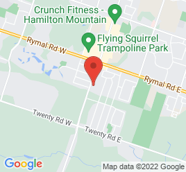 Google Map of 1739+Upper+James+Street%2CHamilton%2COntario+L9B+1K7
