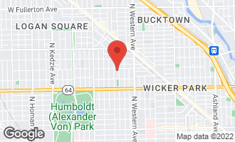 Map of 1740 North Maplewood Avenue #404 CHICAGO, IL 60647