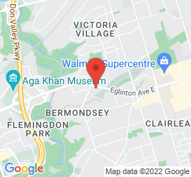 Google Map of 1743+Eglington+Ave+East%2CNorth+York%2COntario+M4A+1J8