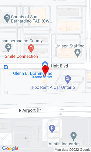 Google Map of Glenn B. Dorning, Inc. 1744 E. Holt Blvd., Ontario, CA, 91761