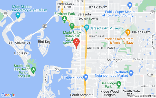 1744 Seminole Dr Sarasota Florida 34239 locatior map