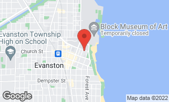 Map of 1745 Hinman Avenue EVANSTON, IL 60201