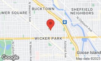 Map of 1745 North Winchester Avenue CHICAGO, IL 60622